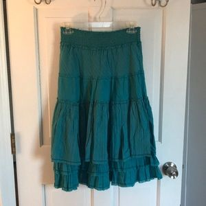Lux Skirts - NWT Lux Turquoise Layered Skirt